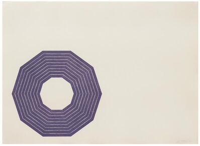 Frank Stella, 'D. (from Purple Series)', 1972