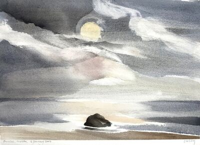 Toni Onley, 'Sunrise, Malibu', 2002