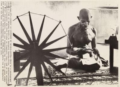 Margaret Bourke-White, 'Gandhi and the Spinning Wheel'
