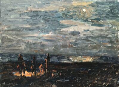 Ben Fenske, 'Moonlit Bonfire', 2019