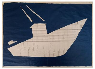 Cayetana H. Cuyás, 'Barco azul marino', 2018