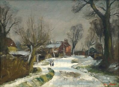 Henry Marvell Carr, 'Winter rural landscape'
