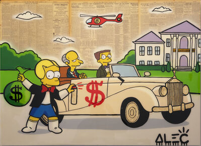 Alec Monopoly, 'Bart Richie Tagging Mr Burns Car', 2019