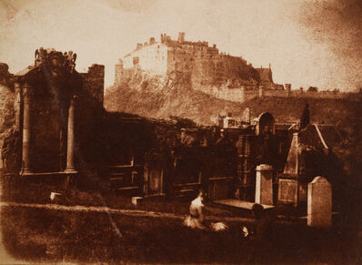Hill & Adamson, 'Edinburgh Castle from Greyfriars', 1843-1847