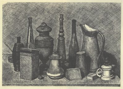 Giorgio Morandi, 'Grande natura morta con la lampada a destra', 1928