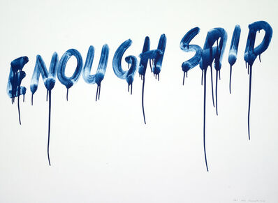 Mel Bochner, 'Enough Said', 2014
