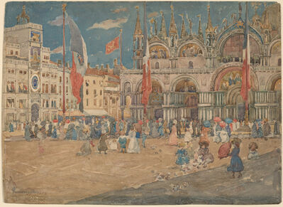 Maurice Brazil Prendergast, 'The Piazza San Marco', 1898
