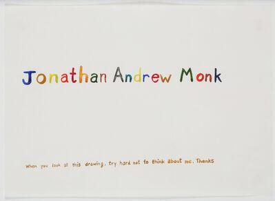 Jonathan Monk, 'Jonathan Andrew Monk', 1996