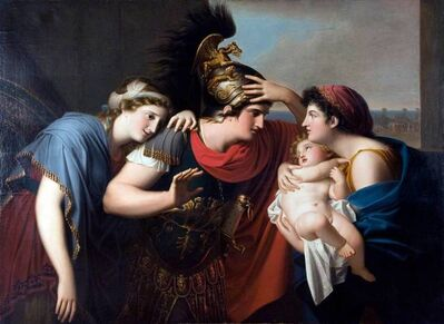 Gaspare Landi, 'Incontro di Ettore con Andromaca (The Encounter of Hector and Andromache)', 1794