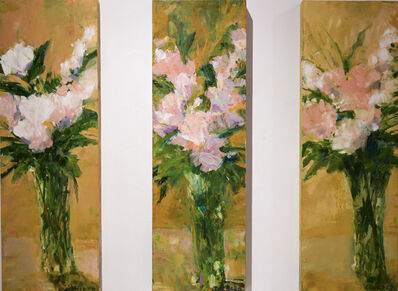 Cynthia Packard, 'Three Roses, triptych', 2010's