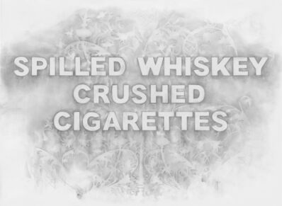 Amanda Manitach, 'Spilled Whiskey Crushed Cigarettes', 2019