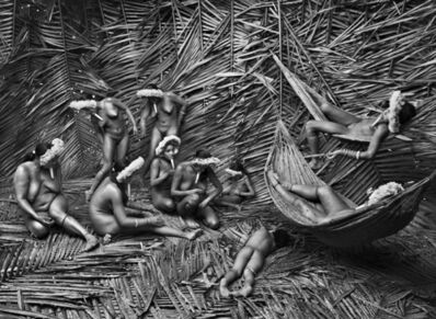 Sebastião Salgado, 'Women in the Zo'é village of Towari Ypy color their bodies with the red fruit of the urucum. Pará, Brazil.', 2009