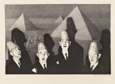 Grant Wood, 'Shriner's Quartet', 1939