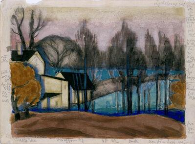 Oscar Bluemner, 'Chasta View, Irvington, New Jersey', 1922