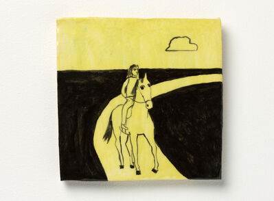 Noel McKenna, 'Horse + rider on road', 2016