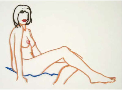 Tom Wesselmann, 'Monica Sitting, One Leg on the Other', 1986-1990