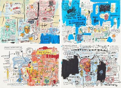 Jean-Michel Basquiat, 'Olympic, Ascent, Liberty, Leeches', 1982-1983/2017