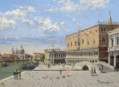 Antonietta Brandeis, 'Palazzo Ducale with Ponte della Paglia', 1900