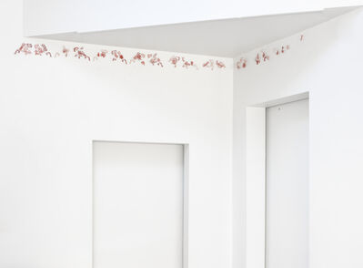 Jeanne Quinn, 'The Fragile Border ( Pink and Red Porcelain Lace)', 2020