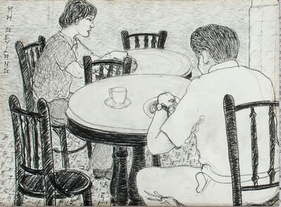 Gilles Massot, 'The Coffee Shop Series, Charcoal Drawing 5 ', 1992
