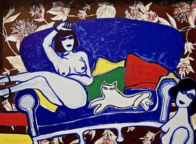 Guillaume Corneille, 'Complicite with Pussycat', 1980