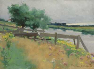 Edward Wilbur Dean Hamilton, 'Grez, France'