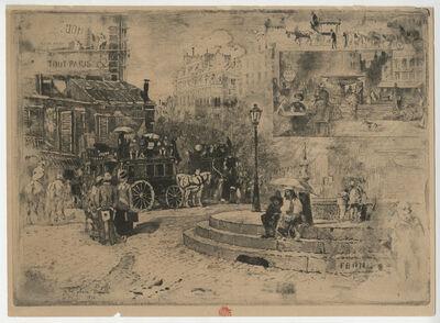 Félix Hilaire Buhot, 'La Place Pigalle en 1878', 1878