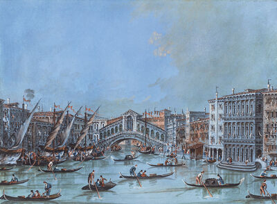 Giacomo Guardi, 'View of the Ponte di Rialto', Late 18th Century