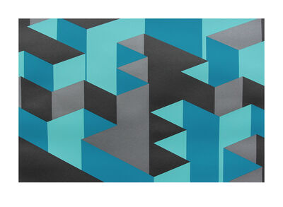 Tez, 'Blue X', 2016