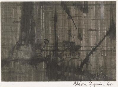 Brion Gysin, 'Composition', executed in 1961
