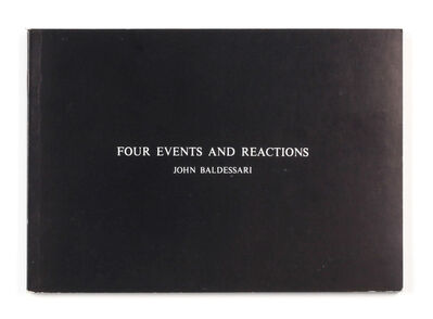John Baldessari, 'Four Events and Reactions', 1975