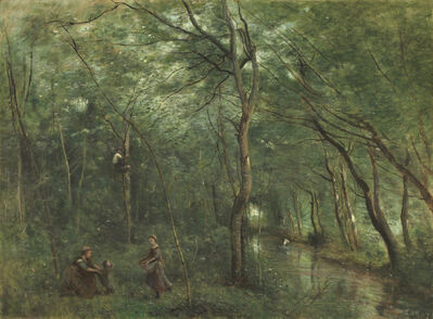 Jean-Baptiste-Camille Corot, 'The Eel Gatherers', 1860/1865