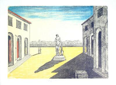 Giorgio de Chirico, 'Piazza d'Italia con Efebo', 1972