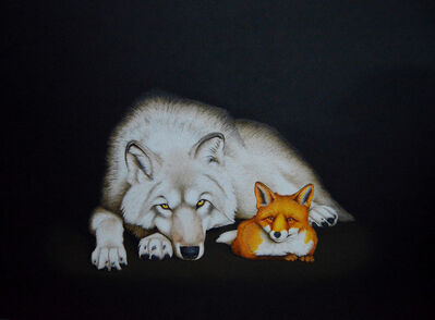 Isabelle du Toit, 'Wolf and Fox', 2017