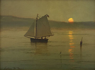 William R. Davis, 'Becalmed at Sunset', 2018