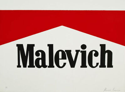 Alexander Kosolapov, 'Malevich', 1990