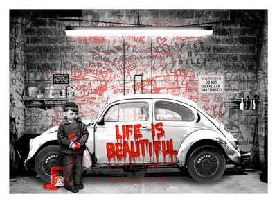 Mr. Brainwash, 'VW Beetle Red', 2020