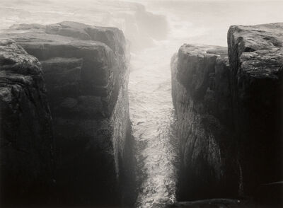 Minor White, 'Ocean, Schoodic Point, Maine', 1968