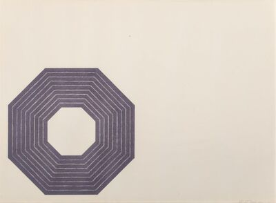 Frank Stella, 'Henry Garden, from Purple Series', 1972