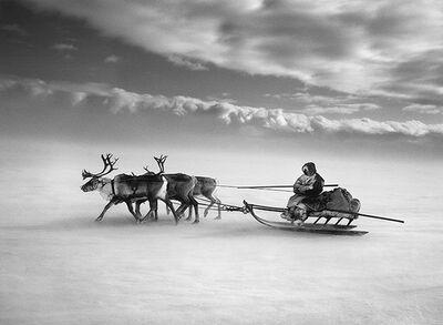 Sebastião Salgado, 'Crossing the frozen Ob River, Siberia, Russia', 2011