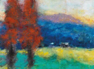 Karl Stark, 'Landscape in the Valley Drau', 1973