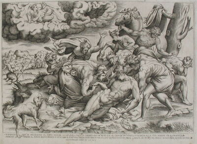 Nicolaus Beatrizet, 'The Death of Meleager', 1543