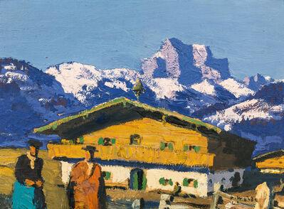 Alfons Walde, 'farm house', ca. 1930
