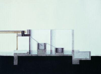 Walter Pichler, 'Haus für die TRÖGE, Längsschnitt', 1998