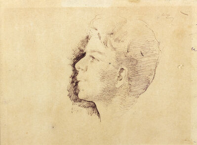 Giuseppe Pellizza da Volpedo, 'Head of a boy', 1885