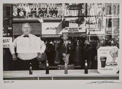 Lee Friedlander, 'Two gelatin silver prints: Newark, New Jersey; Albuquerque, New Mexico'