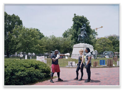 An-My Lê, 'Andrew Jackson Statue, Lafayette Square, President's Park, Washington DC', 2020