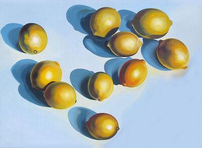 Lowell Nesbitt, 'Ten Lemons on Blue', 1978