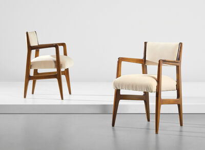 Gio Ponti, 'Pair of armchairs, designed for the second class dining room of the 'Conte Biancamano' ocean liner', circa 1949