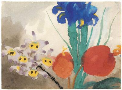 Emil Nolde, 'Orchids, Iris and Flamingo Flower', 1925-1930